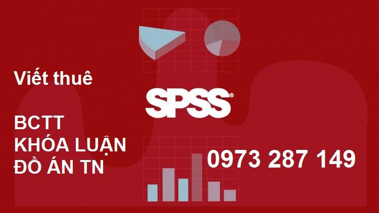 Cách làm Báo cáo thực tập chạy SPSS điểm cao