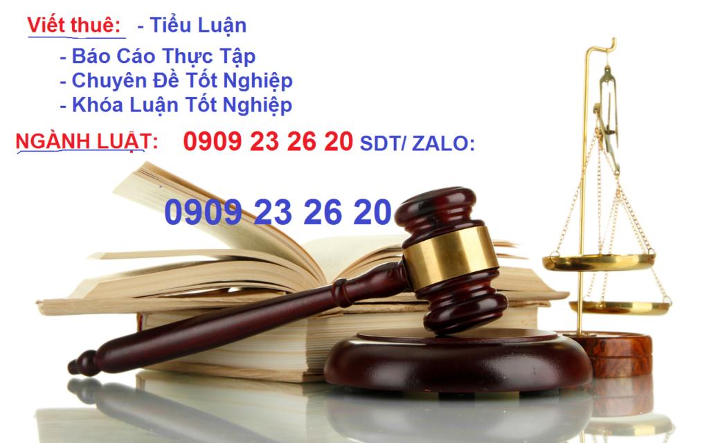 chuyên đề tốt nghiệp ngành luật hiến pháp