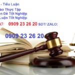 Cách viết Báo cáo thực tập Luật DÂN SỰ ĐIỂM CAO – chuyên đề TN